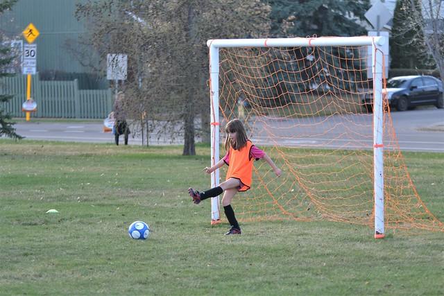 Rose Playing Goalie