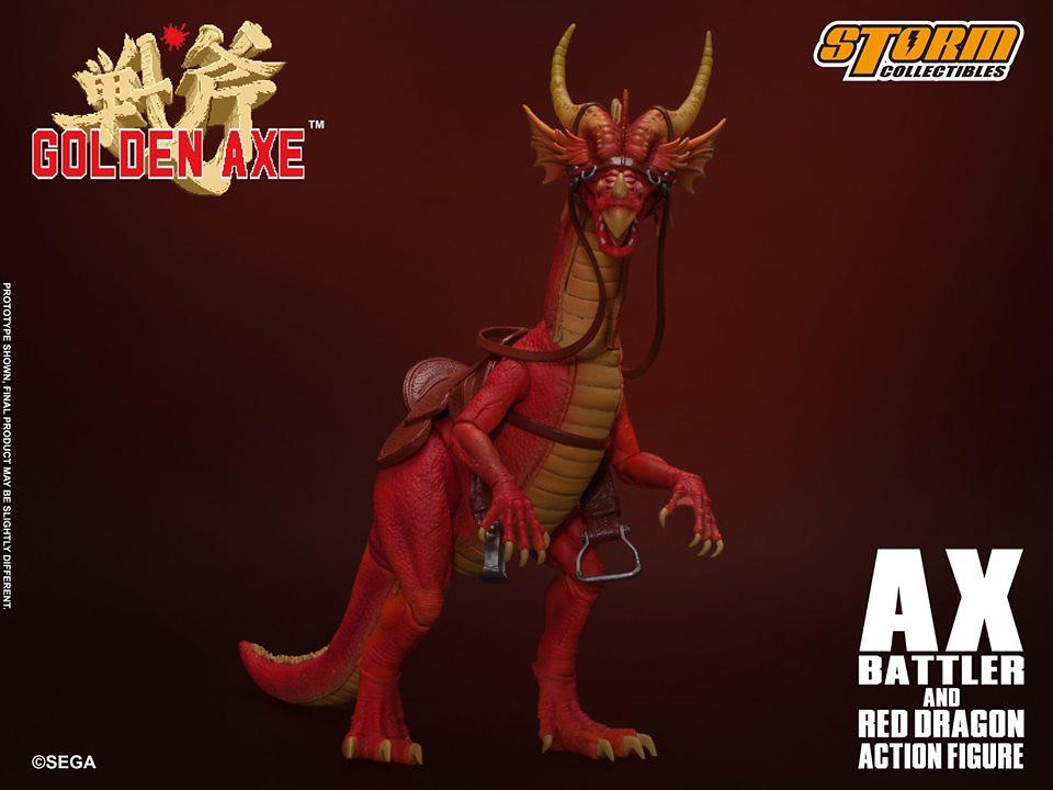 時代的淚水!STORM COLLECTIBLES《戰斧 GOLDEN AXE》亞克斯‧巴特拉 & 紅龍 1/12可動人形(AX BATTLER AND RED DRAGON  ACTION FIGURE)