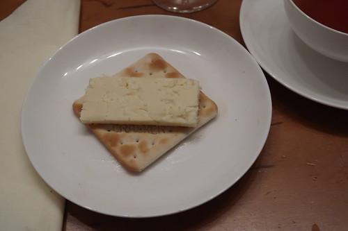 Wensleydale auf Cracker