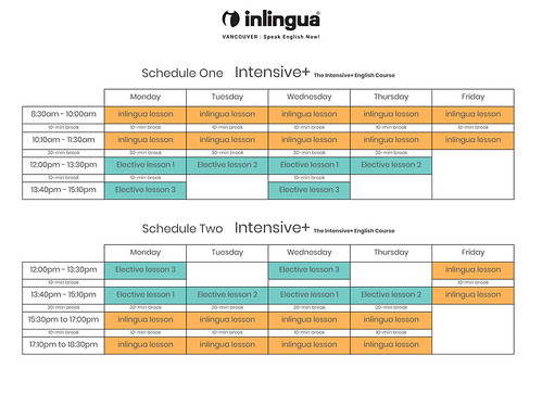 Intensive-plus-English-course-schedules