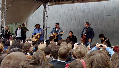 Powderfinger live in Federation Square, 2nd October 2009