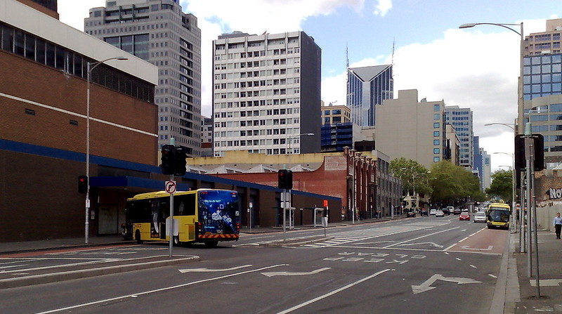 Lonsdale Street bus turnaround, October 2009