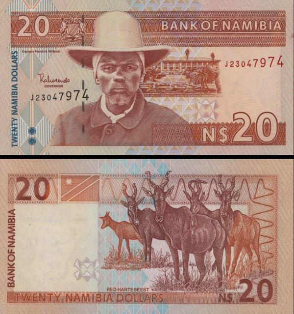 20 Dolárov Namíbia 2007, P6c
