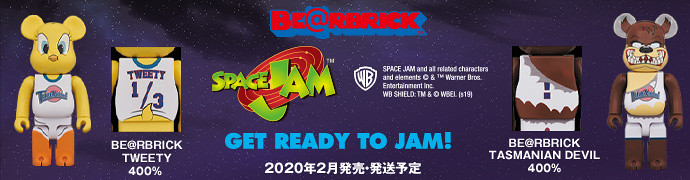 MEDICOM TOY BE@RBRICK《怪物奇兵》崔弟、魔鬼塔斯 400%(SPACE JAM  TWEETY & TASMANIAN DEVIL 400%)Get ready to jam!