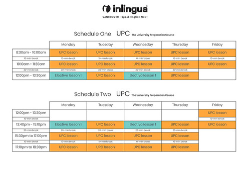 UPC-University-preparation-course-schedule