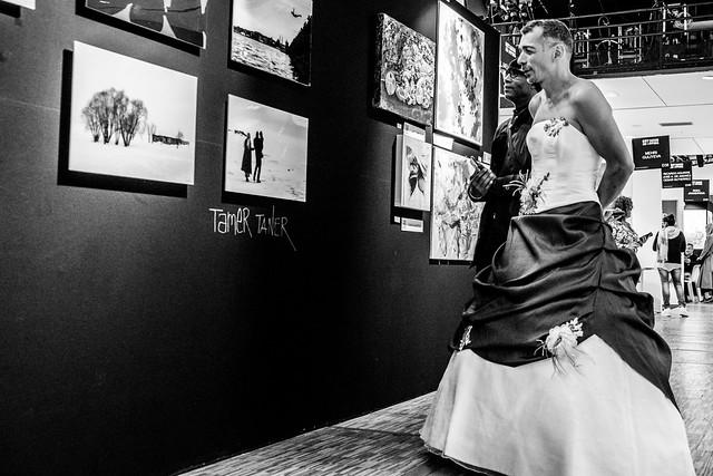 Une mariée à l'expo