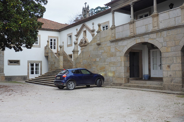 Parking at Quinta Paco de Calheiros, Calheiros, Minho
