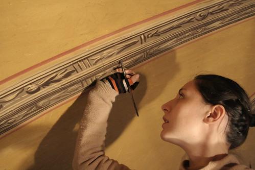 Tecnico specializzato in decorazione murale artistica trompe l'oeil e affresco
