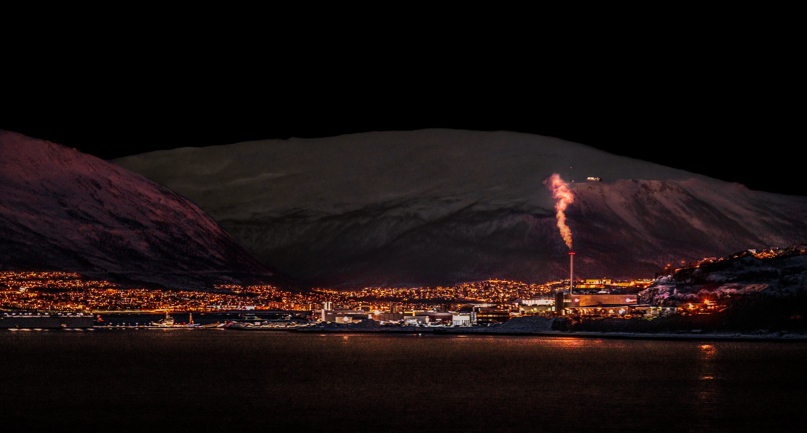 Night view of Tromso, Norway-3a