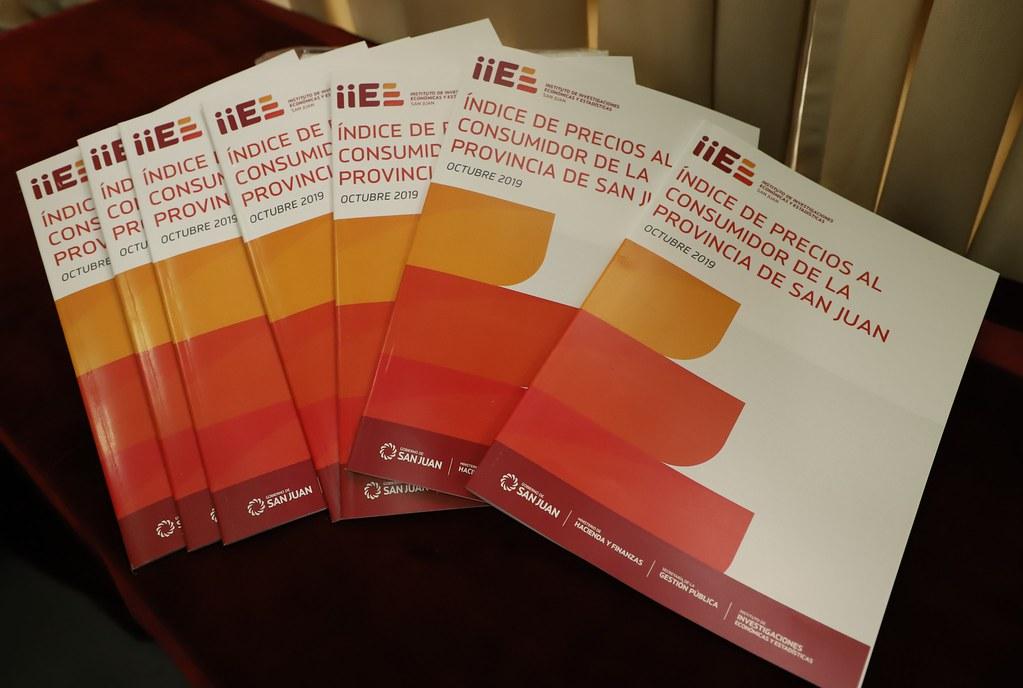 Uñac presentó el Indice de Precios del Consumidor y el Cronograma de Publicacion de Estadísticas Socioeconomicas