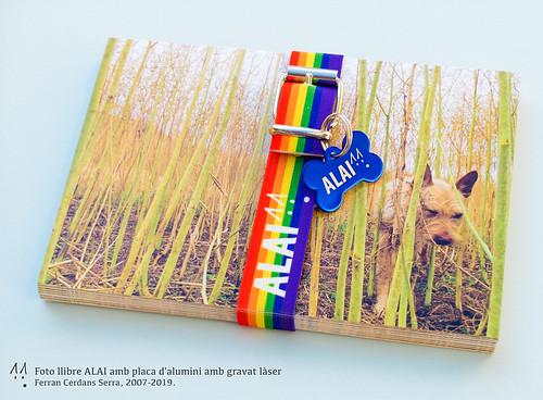 Foto llibre ALAI, disseny definitiu amb placa gravada. Ferran Cerdans Serra, 2007/2019.