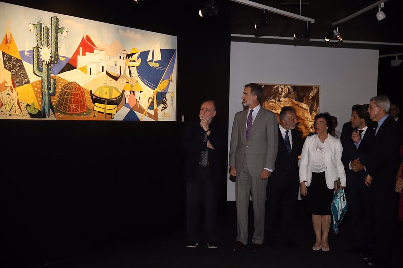 Visita del rey Felipe VI a la Fundación César Manrique (30-10-19)