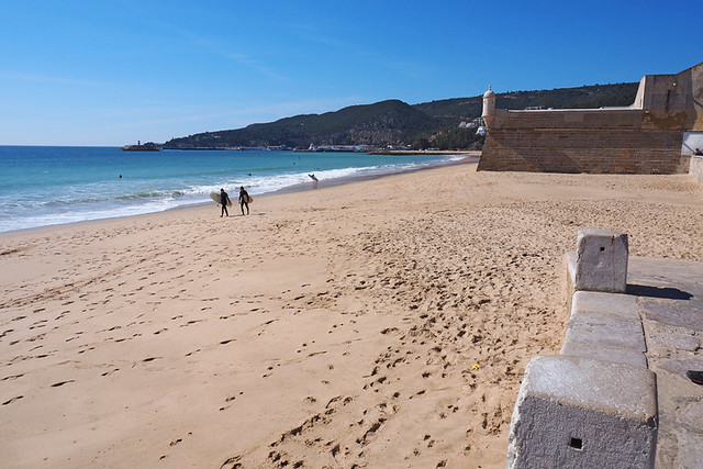 Beach at Sesimbra, Portugal