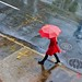Walking in the rain - 10th Avenue, New York City