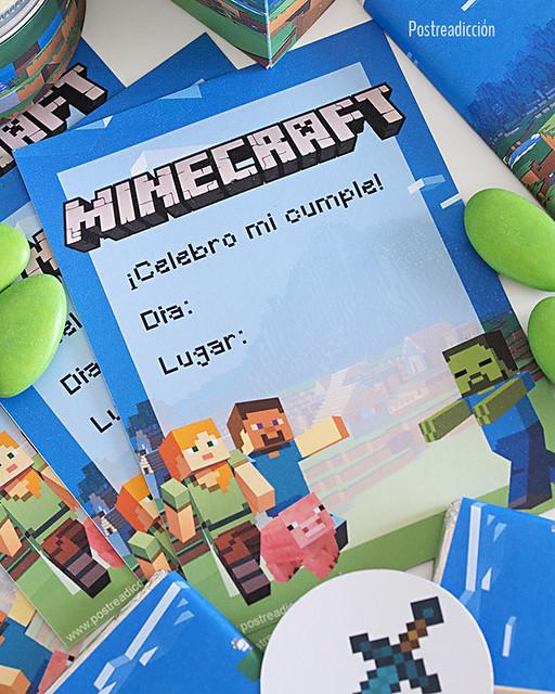 imprimible minecraft