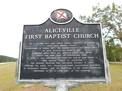 Aliceville First Baptist Church Marker
