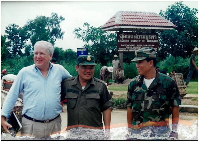 1996 Thai border visit with Nech Bunchay
