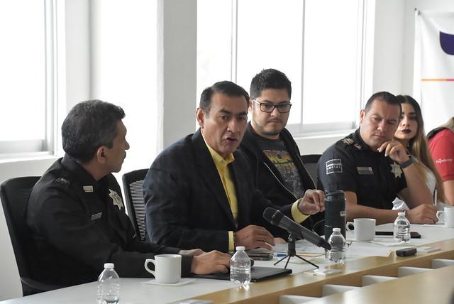El Presidente Salvador Zamora se Reunió con Mandos de la Policía Municipal de Tlajomulco