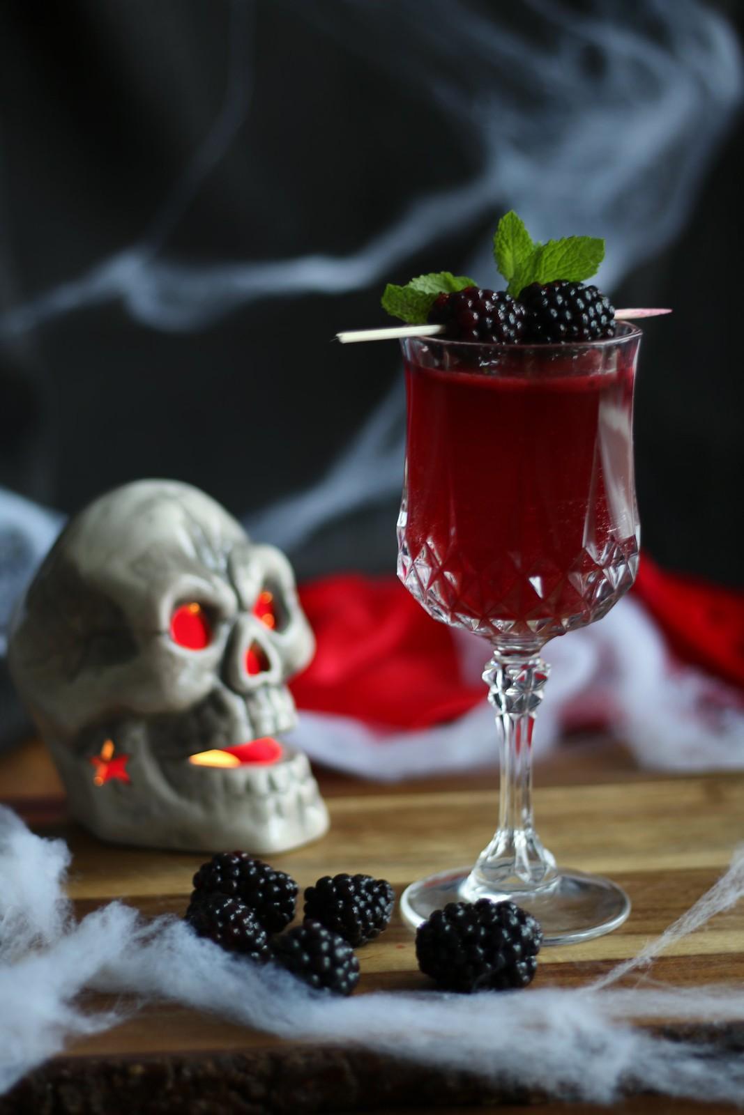 Raspberry Breeze Halloween cocktail