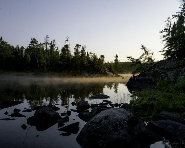 Peaceful morning on Saganaga Lake