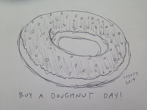 Inktober 30, 2019: Buy a Doughnut Day
