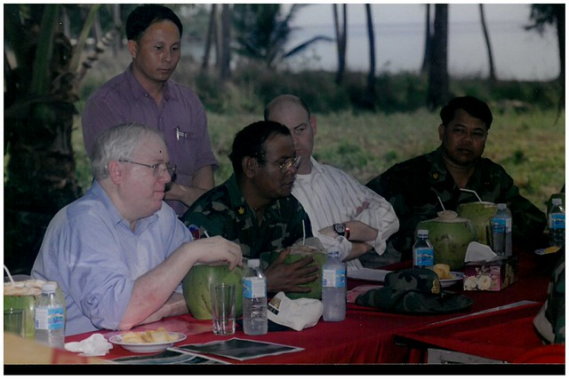 Dinner with Military Cambodians