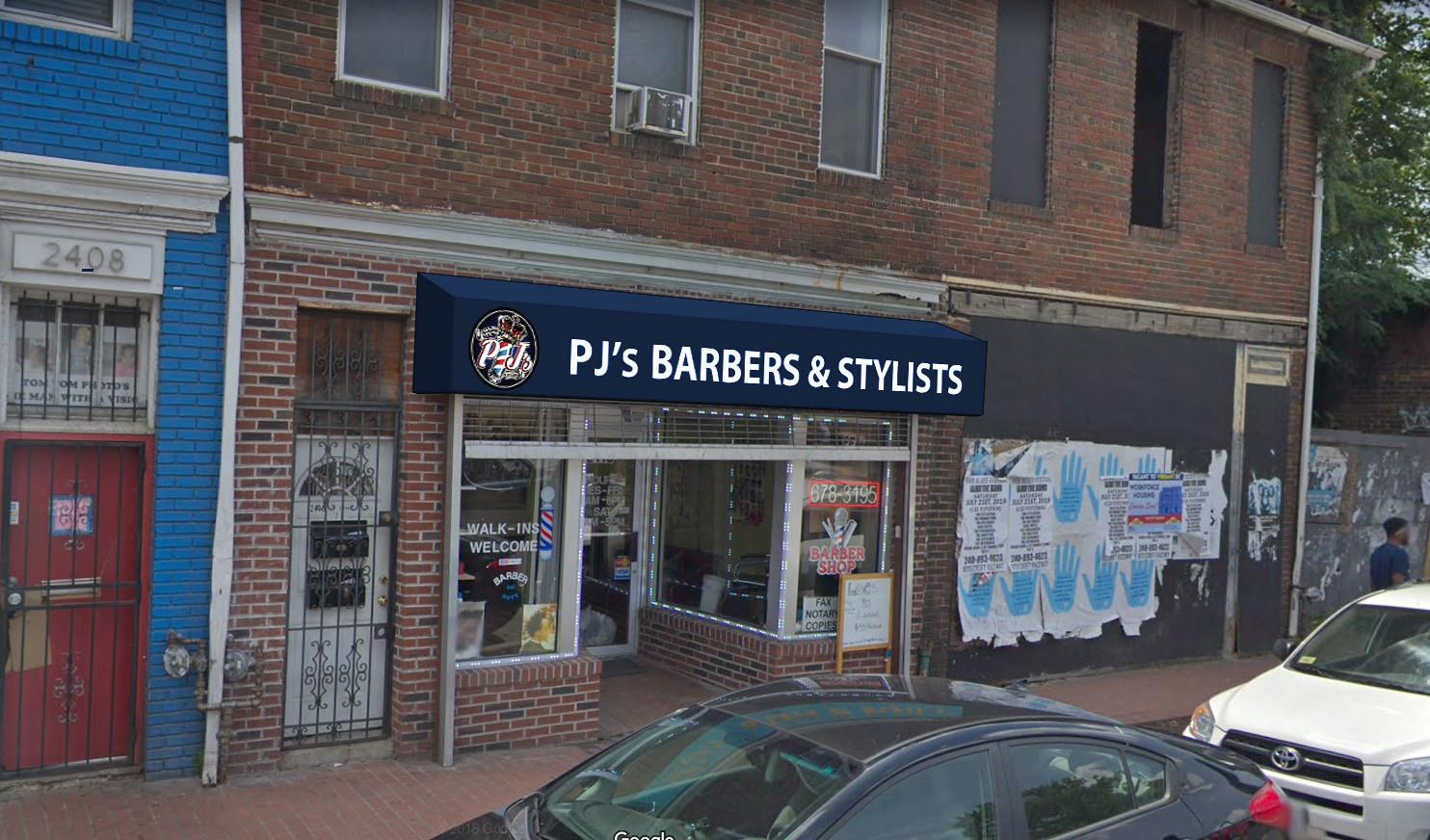 Barbershop Awning Rendering