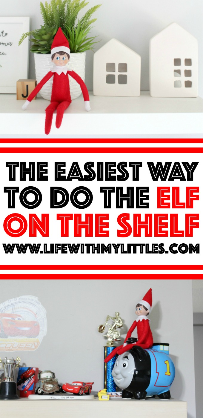 The Elf on the Shelf doesn't have to be an exhausting, stressful charade every night! Here's the easiest way to do the Elf on the Shelf that will make it an easy, fun Christmas tradition for your family!