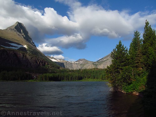Redcap Lake on the Swiftcurrent Pass Trail, Glacier National Park, Montana
