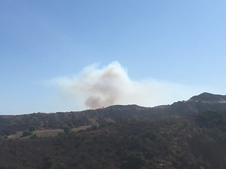 Getty Fire - the view from my house