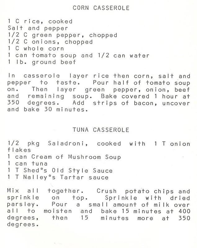 Bona-fied Family Recipes 1980