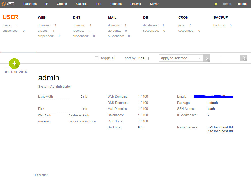 Upgrade Database MariaDB Vesta Panel