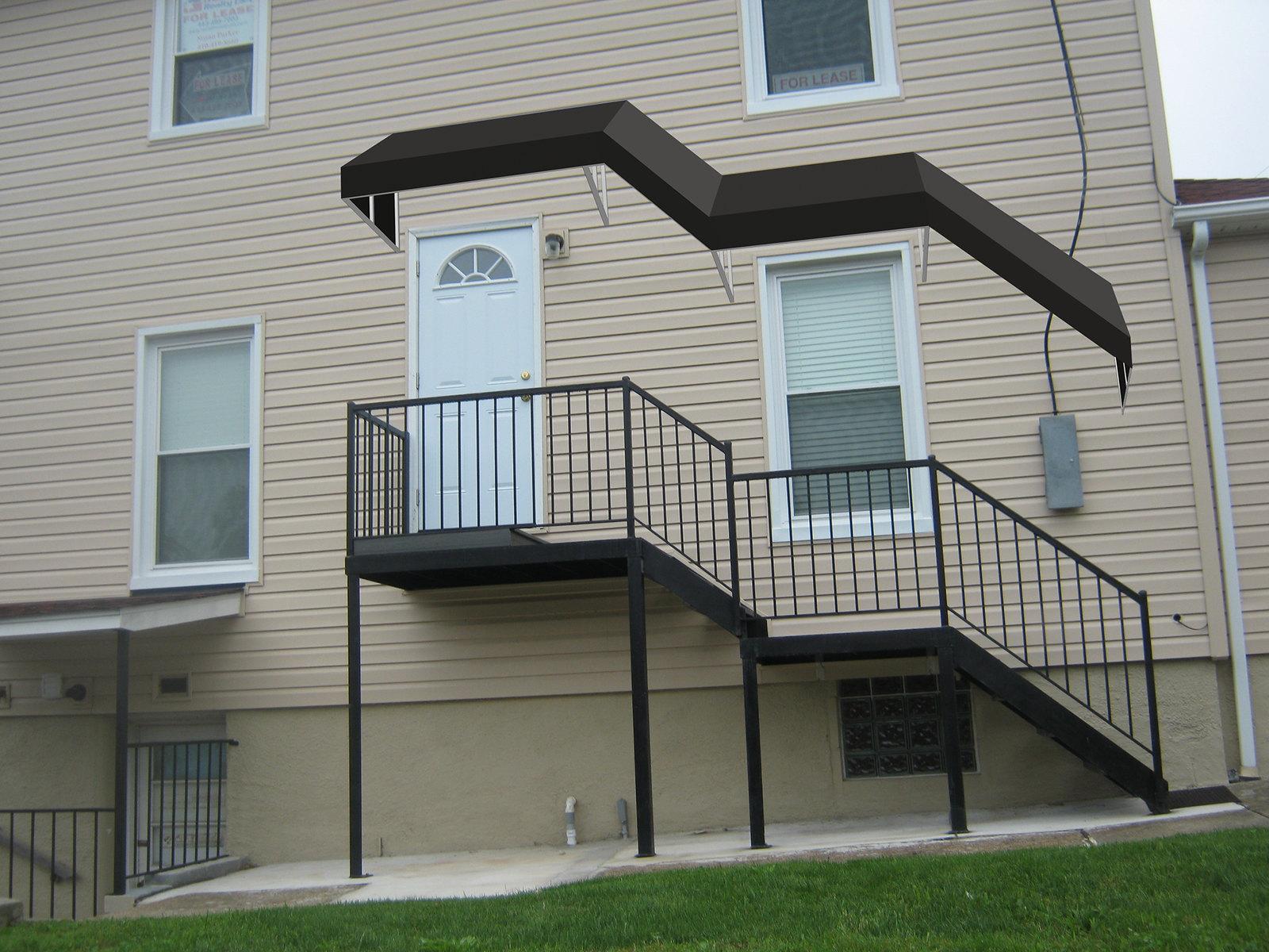 Stairway Awning Rendering