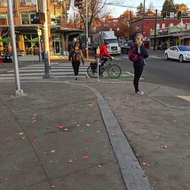 Salted sidewalks in Fremont - October 2019