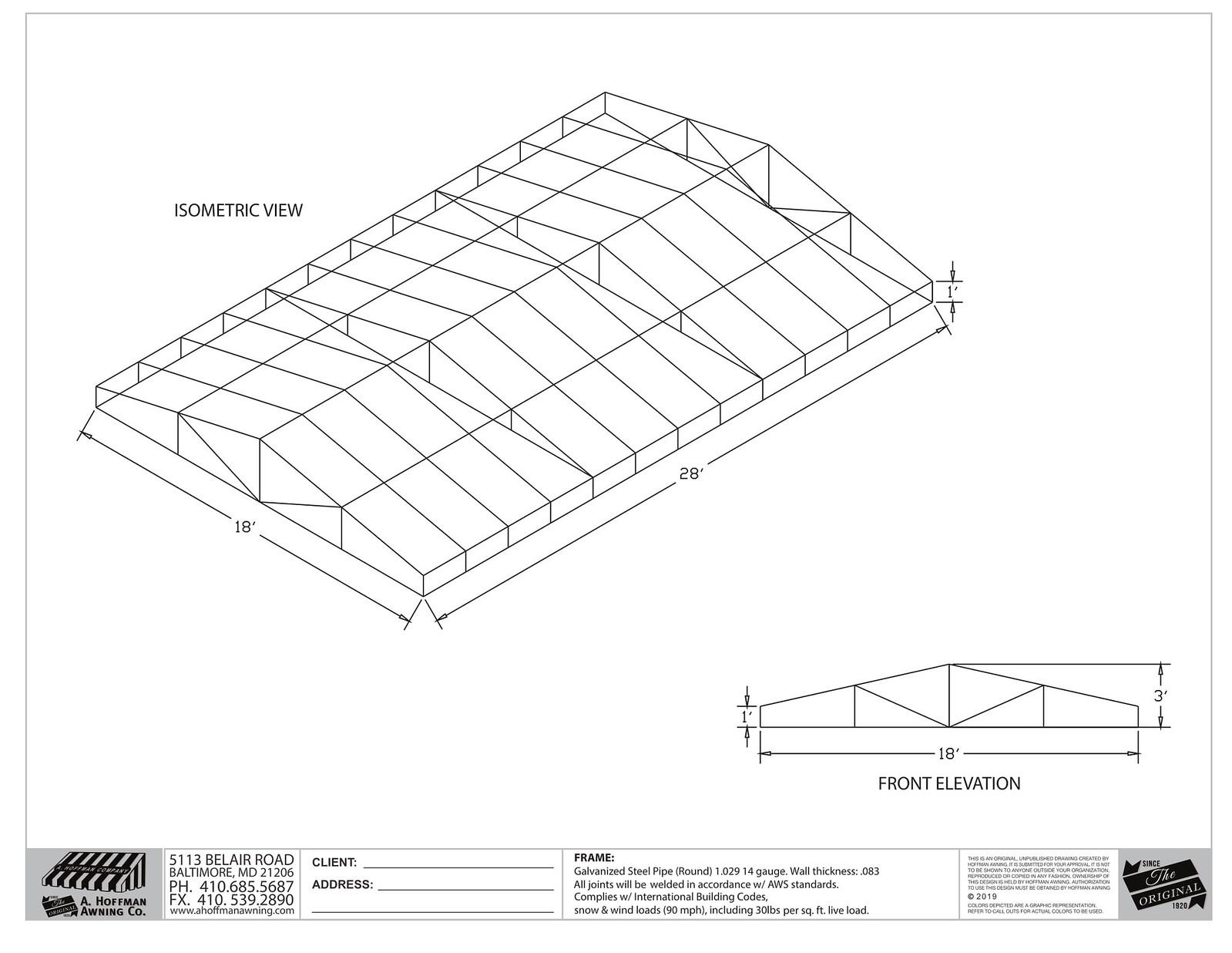 Cad Awning Design - Hoffman Awning