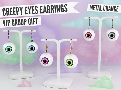 Blah. New VIP Group Gift / Creepy Eyes Earrings ♥