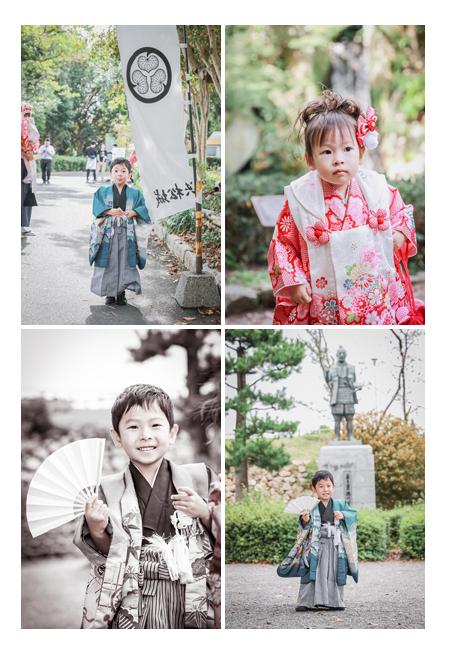 浜松城公園で七五三のロケーション撮影