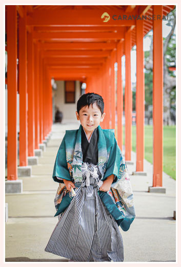 秋葉神社(静岡県浜松市中区)で七五三 5歳の男の子