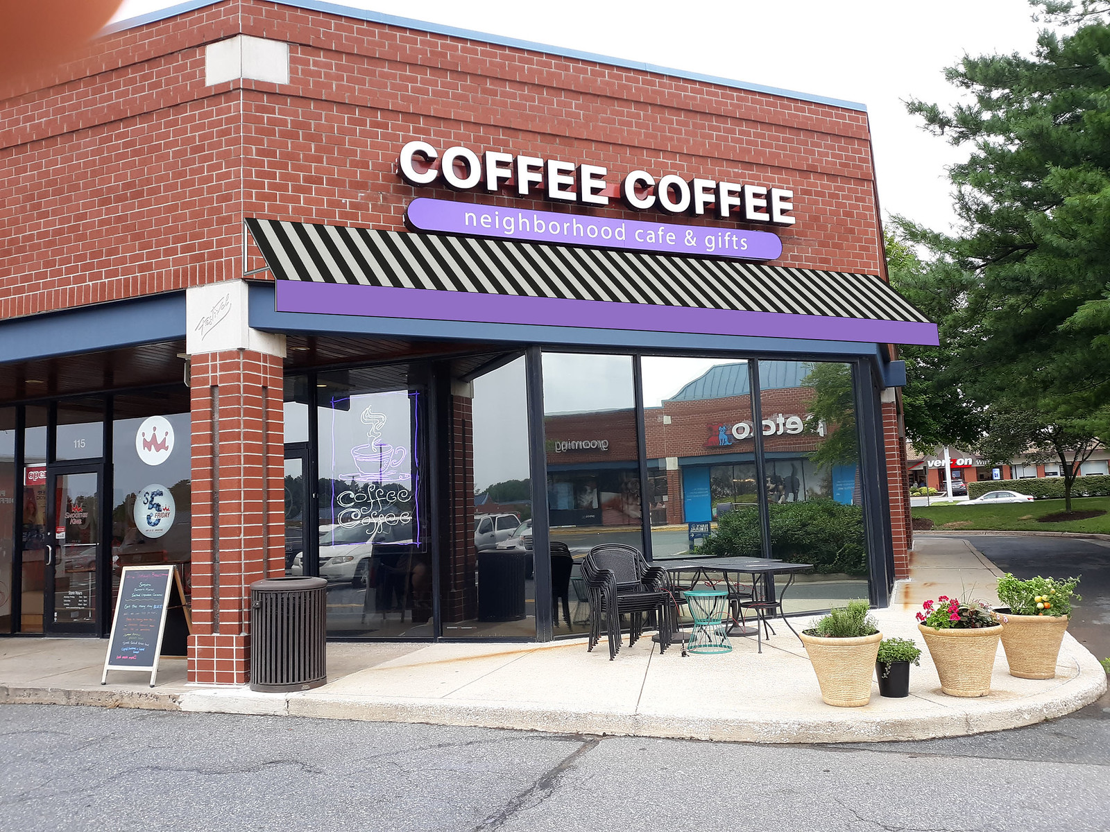 Coffee Storefront Awning Rendering