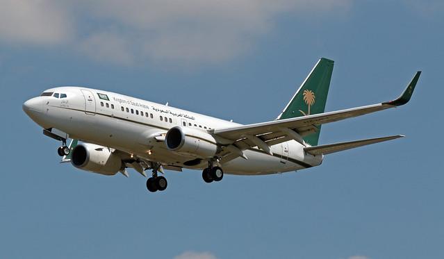 HZ-MF1 EGLL 16-07-2019 Saudi Arabia - Ministry of Finance Boeing 737-7FG(BBJ) CN 33405