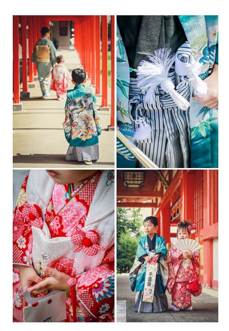 秋葉神社(静岡県浜松市中区)で七五三 兄弟そろって