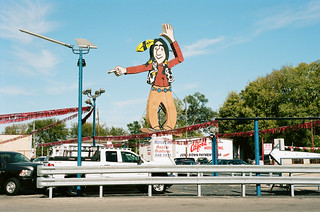 """Where Paddock meets Vine, at the big Indian sign"" 