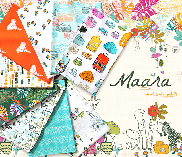 Art Gallery Fabrics Maara Collection by Alexandra Bordallo