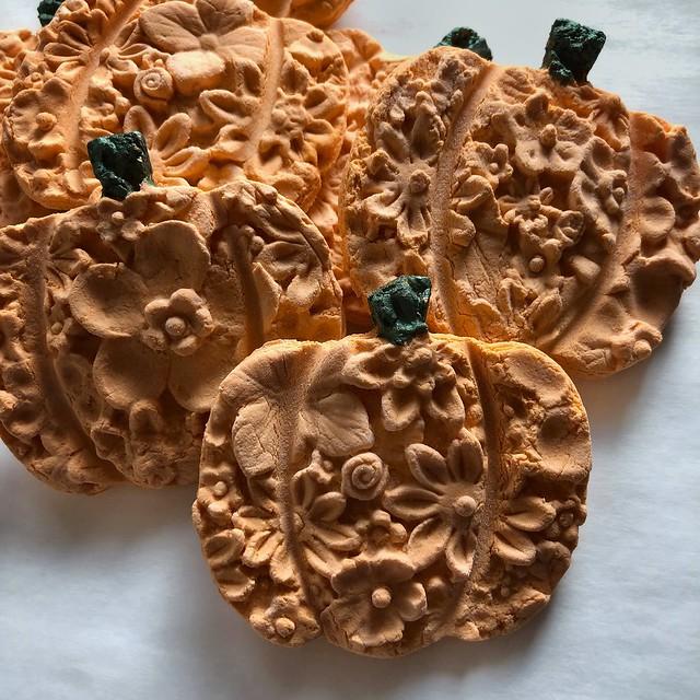 Pumpkin Springerle Cookies