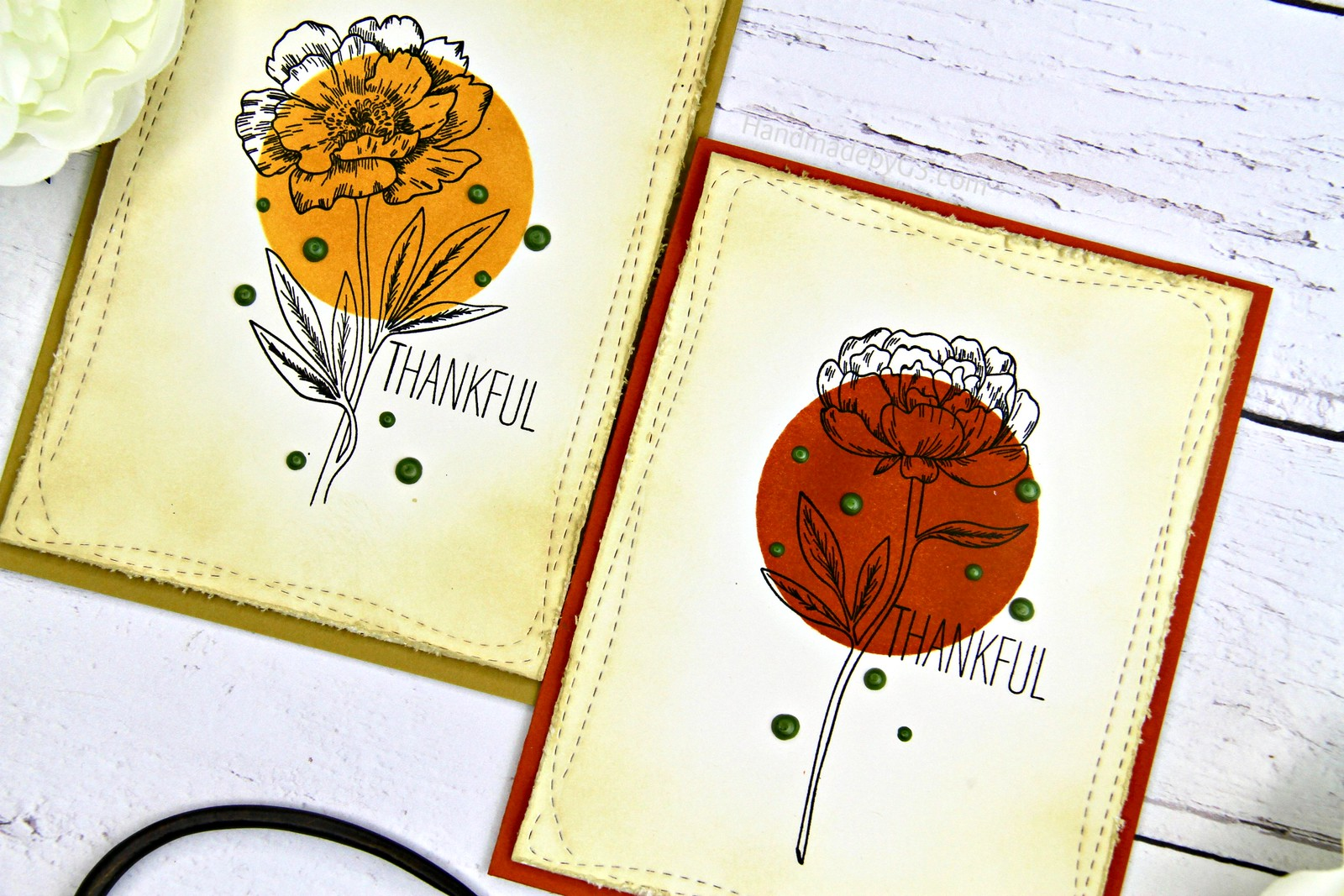 Thankful card set closeup1