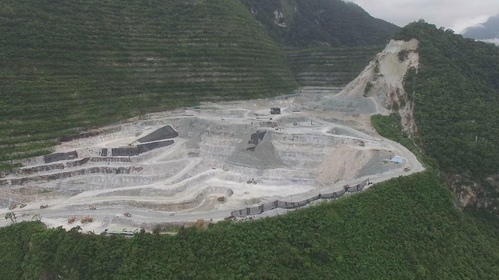 亞泥位於花蓮新城山的礦場。資料照片。