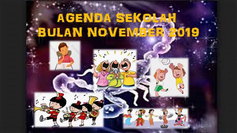 AGENDA SEKOLAH BULAN NOVEMBER 2019