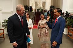 Perdana Menteri Australia Scott Morrison menghadiri Pelantikan Presiden Widodo