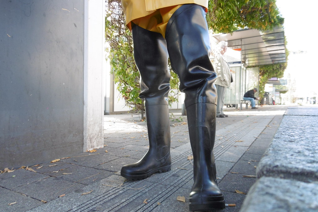 Rubber waders   in thick 1,5 mm Latex