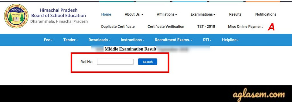 HPBOSE 8th Result 2020
